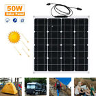 Solar Panel 10W 30W 50W Trickle Charge Battery Charger Maintainer Boat RV Car US