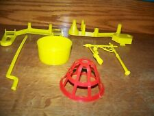 1963 Mouse Trap game yellow replacement pieces parts basket lamp post shoe cage