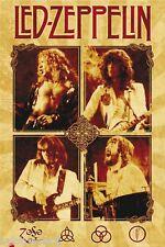 Led Zeppelin Vintage Image Refrigerator / Tool Box Magnet Gift Card Insert