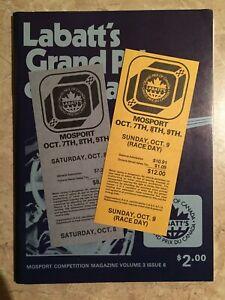 Gilles Villeneuve's 1st Ferrari Race & 1st Canadian Grand Prix Tickets 1977 PLUS