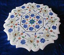 "23"" Marble center Table Top semi precious stone handmade Inlay home decor"
