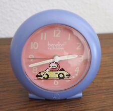 Retro reveil enfant Benetton by Bulova alarm clock rally course de voiture