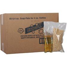 5.4 oz. White Popcorn Oil Seasoning Kit for 4 oz. Poppers 24-Pack Family Snack