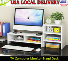 Computer Monitor Riser Desk Table TV Stand Shelf Desktop Laptop Shelves US