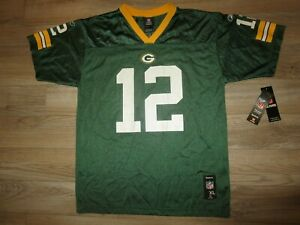 Aaron Rodgers #12 Green Bay Packers NFL Reebok Jersey Youth XL 18-20 NEW NWT