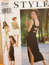 Style Pattern 2295 UNCUT Sexy Back Bands Dress Top Shorts Size 6 8 10 12 14 16