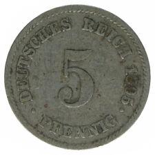 Deutsches Reich 5 Pfennig 1895 E A37493