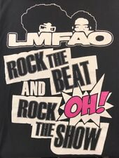 LMFAO Rock The Beat And Rock The Show Oh! Tee T Shirt Black Men's L