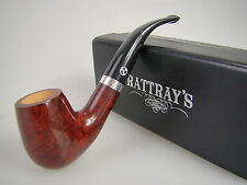 Rattray's Pfeife Red Lion Bordeaux Rot Glatt 59 9mm Filter #1805
