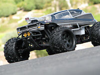 HPI RACING SAVAGE X 4.6 SILVER/GUNMETAL 7167 GRAVE ROBBER CLEAR BODY