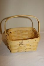 Longaberger Medium Berry Basket - Pale Yellow - New!