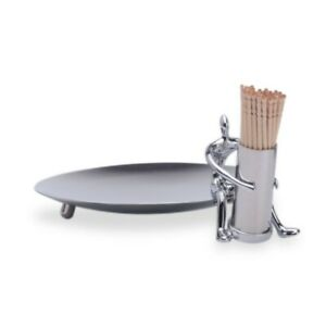 Mukul Goyal Chrome Figure Bazaar Stainless Steel Olive Dish - Small