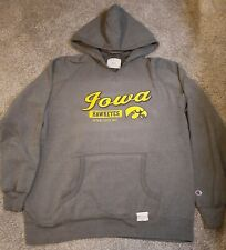 Vintage 90s Champion Univeristy Of Iowa Hawkeyes Pullover Hoody Sweater Size XXL