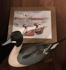 Ducks Unlimited 1985-86 T.J. Hooker Carved Wood Pintail Duck Limited Edition