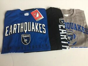 MLS San Jose Earthquakes Youth Boys Outerstuff 3 Pc Short Sleeve Set,Small 8 NEW