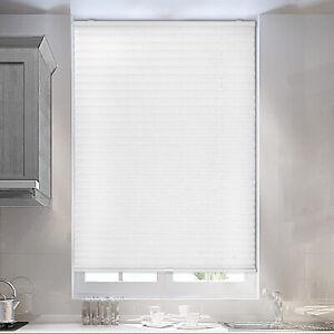 Plissee Faltrollo Klemmfix Jalousie Rollo Blickdicht Fenster Breit 60-120cm weiß