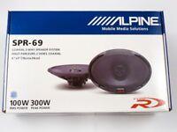 "Alpine SPR-69 Type-R 6""x9"" 2-way car speakers NEW PAIR ALPINE SPR69 SHIP QUICK."