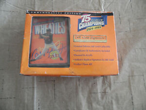 1999 Wheaties 75 years of Champions 24K Gold Signature Mini Box Cal Ripken Jr