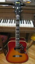 "VINTAGE DIXON ""LAWSUIT"" ACOUSTIC GUITAR JAPAN W/FISHMAN PUP HUMMINGBIRD COPY"
