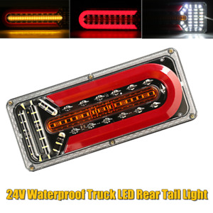 24V LED Rear Taillight Brake Light Turn Signal Indicator Reversing For Truck Van