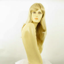 Perruque femme mi-longue blond doré méché blond très clair BETTY 24BT613