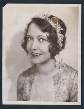 SUPERB DOROTHY SEBASTIAN OVERSIZE DBLWT PHOTO BY LOUISE - VG+ 10X13 1920'S  SIL