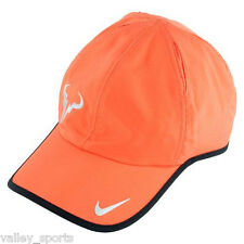 NEW! Orange NIKE Rafa Nadal Bull Adult Cap DRI-FIT FEATHERLIGHT Tennis Hat