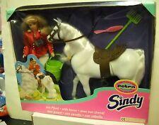 #1584 NRFB Hasbro Sindy's Friend Petra & Horse Set