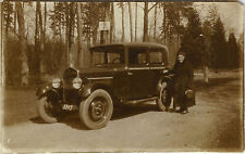 PHOTO ANCIENNE - VINTAGE SNAPSHOT - VOITURE AUTOMOBILE TACOT FEMME -OLD CAR 1932