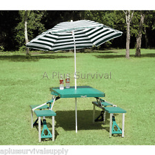 Folding Picnic Table with Umbrella - Great for Camping!