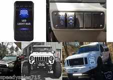 """(1) Blue LED Light Bar Toggle Switch Cree 20"""" 50"""" Off Road New Free Shipping"""