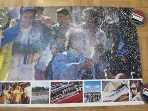 1973 Swedish Grand Prix Anderstorp Racing Poster Formula 1 McLaren Goodyear Tire