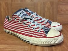 RARE🔥 Converse Chuck Taylor American USA Flag Stars Bars Red White Blue Sz 7.5