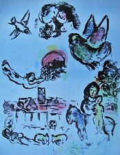 CHAGALL - NOCTURNE IN VENICE  - ORIGINAL LITHOGRAPH - 1963 - FREE SHIP IN US !!!