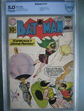 Batman #141 CBCS 5.0 like CGC DC 1961 1st app Clockmaster & 2nd app Bat-Girl