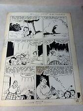 TOM MIX #32 TUMBLEWEED JR original comic art, indian western, 1950, CASTOR OIL