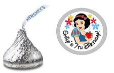 108 SNOW WHITE PERSONALIZED HERSHEY KISS LABELS STICKERS BIRTHDAY PARTY FAVORS