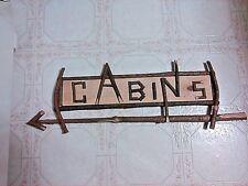 Rustic Cabins Arrow Sign-New