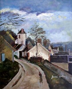 Paul Cezanne The House of Dr. Gachet Repro, Hand Painted Oil Painting, 20x24in