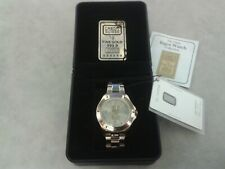 Swiss Ingot Gents Watch Credit Suisse With 1g 999.9 Certified Solid Gold £499RRP