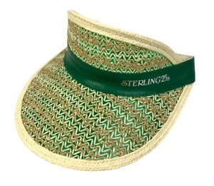 Vintage Sterling 25s Benson & Hedges B&H Straw Sun Visor Hat Cap RARE