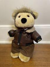 1991-All Stuffed Up Designer stuffed bear-Linda Novick Pilot Flyer 12.5�