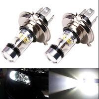 2x Car H4/H7 9003 HB2 8000K Hi/Lo Beam 20 LED Fog Light Driving DRL Bulb L HO
