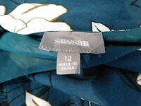 Sussan Jumpsuit playsuit Green, white, brown floral print Sz 12