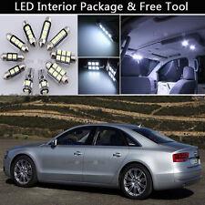 18PCS Canbus White LED Interior Lights Package kit Fit 2005-2011 Audi A6 C6 J1