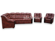 Corner Sofa Bed with Storage, Real Leather, Made to Measure,Modern