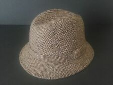 VINTAGE MID CENTURY MENS STETSON BROWN CAMEL WOOL TWEED TRIBLY HAT