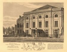 SURREY THEATRE (ex-ROYAL CIRCUS), Lambeth. ST GEORGE'S CIRCUS plan 1834 map