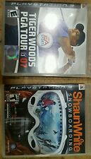 Shaun White Snowboarding & Tiger Woods 08 PS3 ( Complete / Tested )