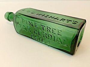 Antique WISHART'S PINE TREE TAR CORDIAL PHILA PATENT 1859 Bottle - NICE EXAMPLE!